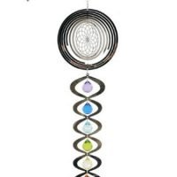 1pc Seed of Life Spiral with Illusion Mirror Mobile with 7 Chakra's