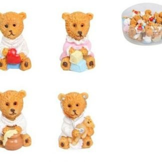 24pc Miniature Teddy Bear Fairy Garden Doll House Cake Decoration