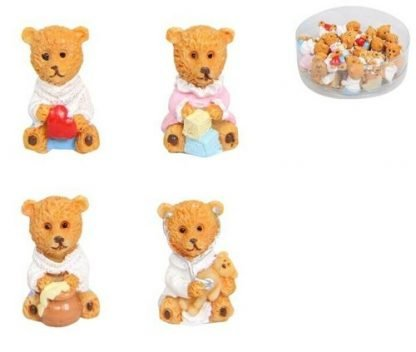 24pc Miniature Teddy Bear Fairy Garden Doll House Cake Decoration