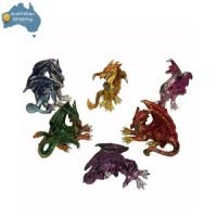 6pc Dragon Statue Figurine Guardian Dragon Mythical Statue