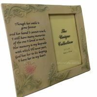 Memorial Frame Her Smile Quote Photo Frame