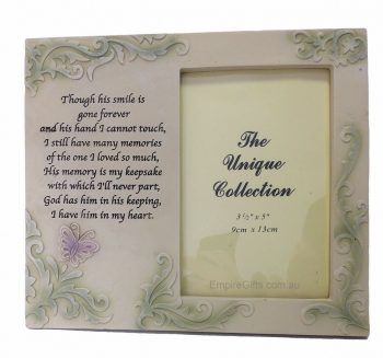 Memorial Frame His Smile Quote Photo Frame
