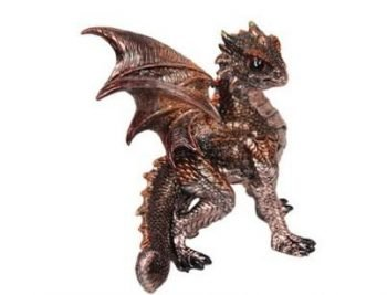 1pc Dragon Statue in Defence Pose Golden