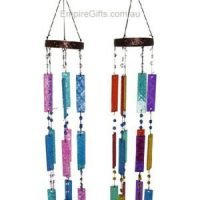 Glass Filigree Coloured Wind Chime Garden Hanging Mobile