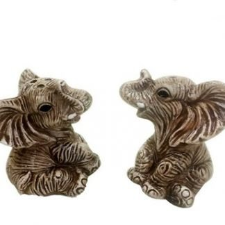 2pc African Elephant Salt & Pepper Shaker Set Collectable