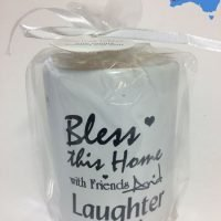 "1pc Inspirational Ceramic Candle Oil Burner Wax Melts ""Bless..."