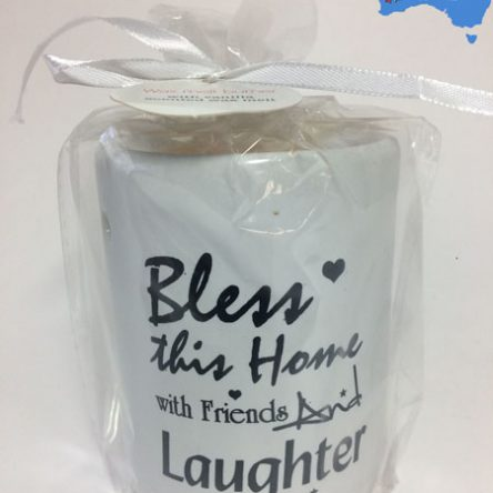 "1pc Inspirational Ceramic Candle Oil Burner Wax Melts ""Bless…"