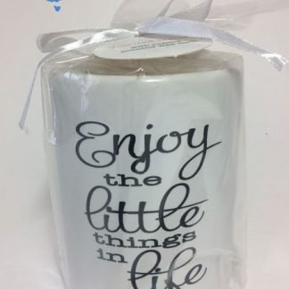 "1pc Inspirational Ceramic Candle Oil Burner Wax Melts ""Enjoy..."