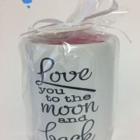 Love you to the moon and back candle oil burner
