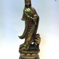 1pc Feng Shui Fortune Guan Yin ~ Quan Yin & Lion Statue