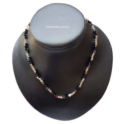Magnetic necklace clear crystal beads