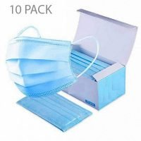 10pk Disposable Face Mouth Mask with Elastic Ear Loop
