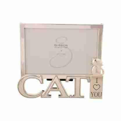 """1pc CAT Kitten Photo Frame Pet Frame """"I Love You"""""""