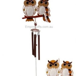 1 x Loving Owl Twin Couple Wind Chime Garden Hanging Mobile