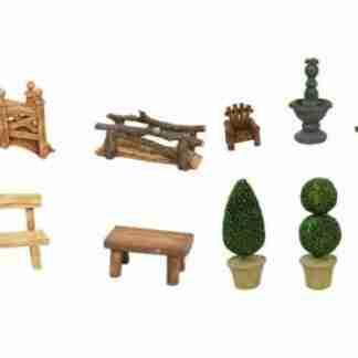 10pc Fairy Garden Display Novelty Furniture Collectables BULK