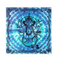 1111 Ganesha Altar Cloth Tarot, Runes, Divination, Tablecloth Blue/Turquoise