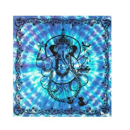 1111 Ganesha Altar Cloth Tarot, Runes, Divination, Tablecloth Blue/Turquoise