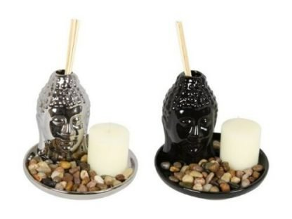 Buddha Diffuser on Plate With Candle