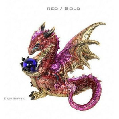 1pc Dragon Statue Game of Thrones Guardian Dragon Red/Gold