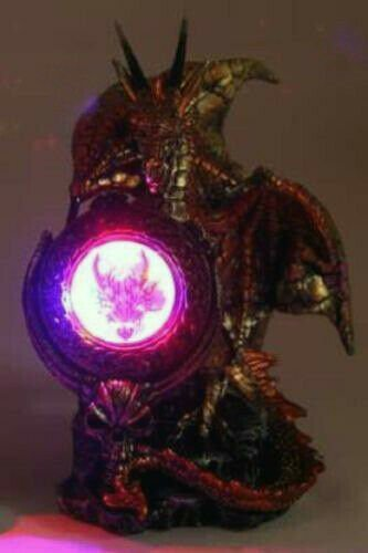 1pc Dragon Statue with Light Up Shield Game Of Thrones