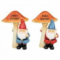 1pc Gnome holding Fairy Garden Sign Fairy Garden Statues