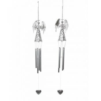 2 x Angel Wind Chime Metal Hanging Mobile Naive Christmas Angel