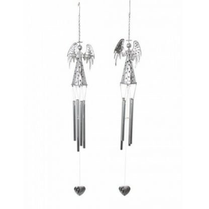 2 x Angel Wind Chime Metal Hanging Mobile Naive Christmas Angel