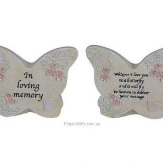 2pc Butterfly Memorial Garden Plaque with Inspirational Wording