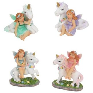 4pc Fairy & Unicorn Friends Fairy Garden or Cake Decoration FAIFRSM