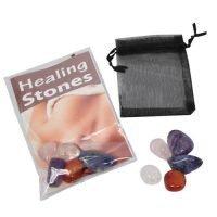 5pc Health Healing Stones in Gift Pack Reiki Meditation