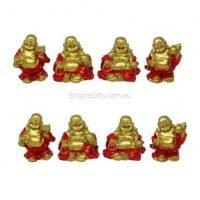24pc Miniature Buddha Statue Feng Shui Wealth Enhancer BULK Set of 24 Gold
