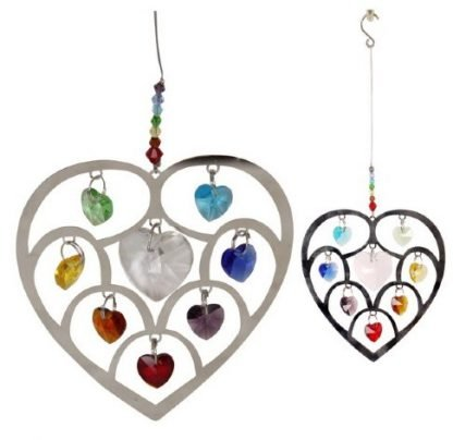 Charkra Heart with Gems Hanging Mobile