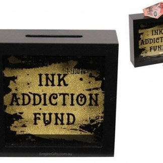 Tattoo Ink Addiction Fund Wood Money Box Tattoo Saving