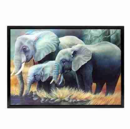 Elephant 3D wall art