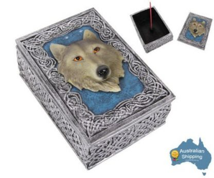 1 x WOLF Game of Thrones Wolf Box Incense Burner