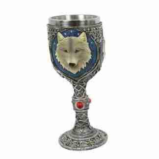 white wolf goblet