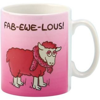 "1pc Coffee Mug Irish Sheep ""Fab-Ewe-Lous"" Ceramic Cup"