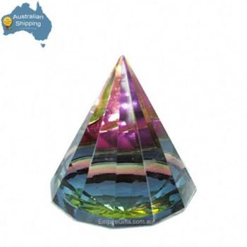 1pc Crystal Pyramid Healing Rainbow Crystal 60mm