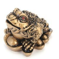 1pc Money Frog Feng Shui Wealth & Prosperity Antique Gold