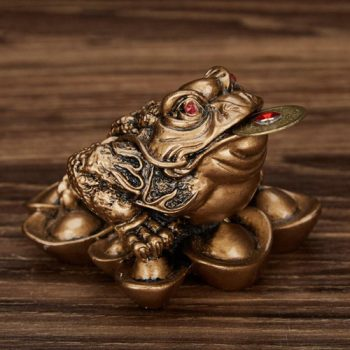 1pc Money Frog Feng Shui Wealth & ProsperityAntique Gold