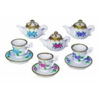 24pc Miniature Tea Cups + Tea Pots Cake Decoration