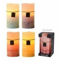 5 x Light Up LED Flameless Scented Wax Candle in Gift Box