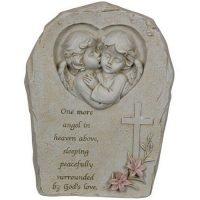Angel Cherub Memorial Plaque Free Standing