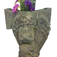 Angel Cross Memorial Flower Planter Garden Statue Remembrance