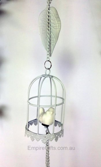 Bird in Birdcage Watering Can Wind Chime Hanging Mobile