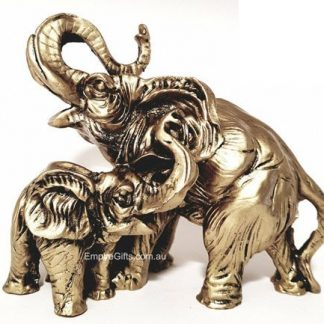 Elephant Statue Mother & Child Feng Shui Enhancer