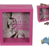 Girls Just Wanna Have Funds Money Box Girls Gift