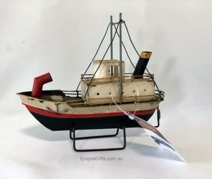 Boat Tin Mini Stack Liner Ship Red Nautical Collectable