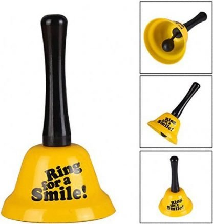 Bell Ring for a Smile Hand call bell barware