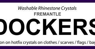 AFL DOCKERS iron on crystals sport team names 50% OFF